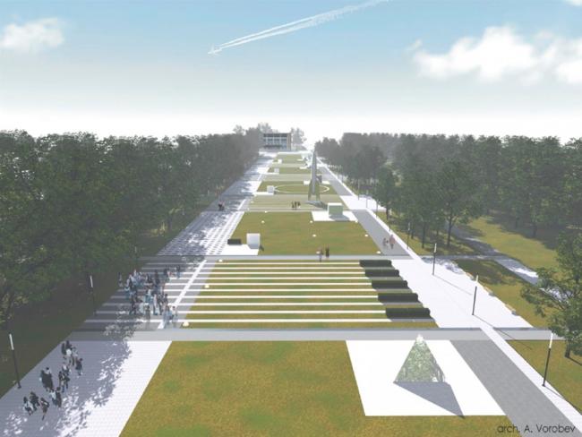 Звездный городок, проект общественного пространства. Предоставлено Главархитектуры МО
