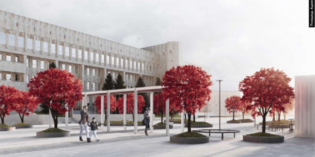 Руза, проект общественного пространства. Предоставлено Главархитектуры МО