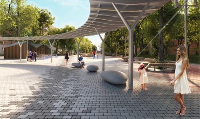 Ступино, проект общественного пространства. Предоставлено Главархитектуры МО