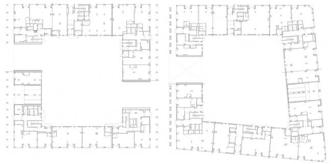 ЖК Golden City. 6 квартал. План 1 этажа © KCAP + ORANGE + Архитектурное бюро «А.Лен»