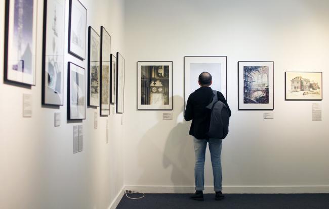 Выставка конкурса «Архиграфика 5» Куратор Екатерина Шалина. Фотография Архи.ру