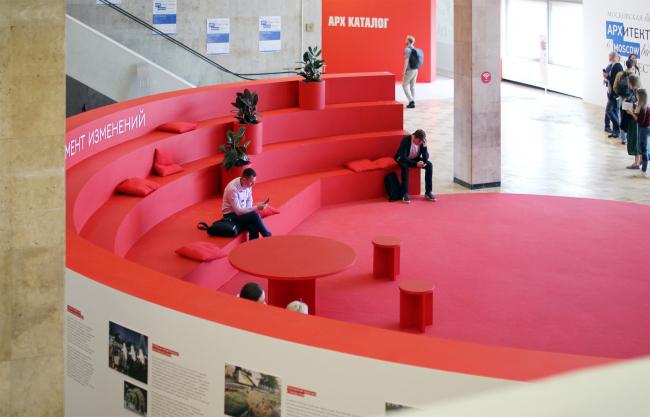 Специальная экспозиция почетного гостя выставки, республики Татарстан. Фотография Архи.ру