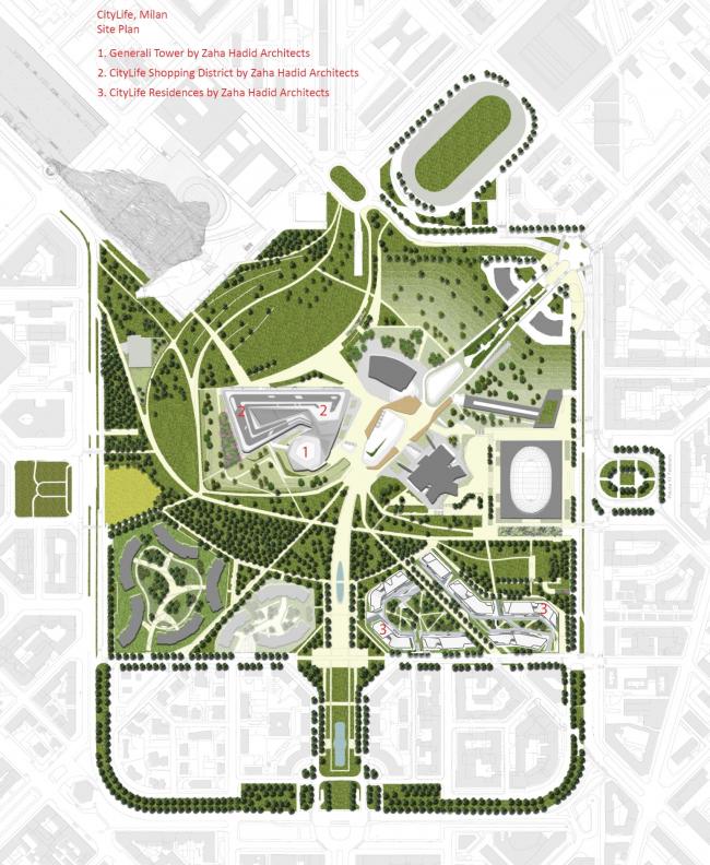 Башня Generali комплекса CityLife © Zaha Hadid Architects