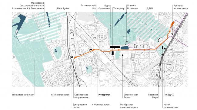 Градостроительный контекст. Проект «Моносад» © WOWHAUS