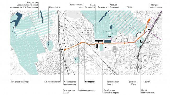 """The town-planning context. """"Monosad"""" project © WOWHAUS"""