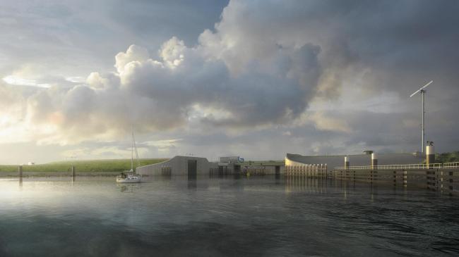 Дамба Афслёйтдейк – реконструкция © WAX