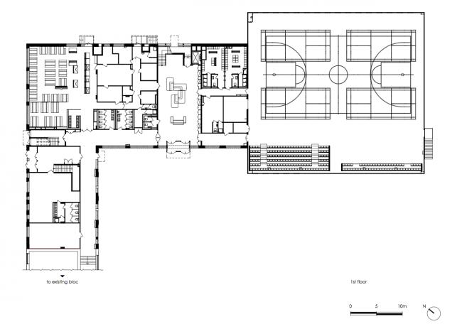 План первого этажа. Печерская международная школа © Архиматика