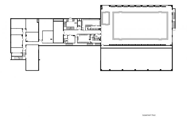 План цокольного этажа. Печерская международная школа © Архиматика