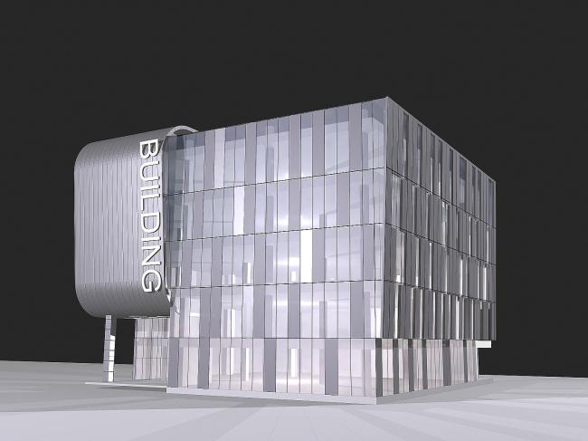 Многоуровневая парковка с административными помещениями © ABD architects