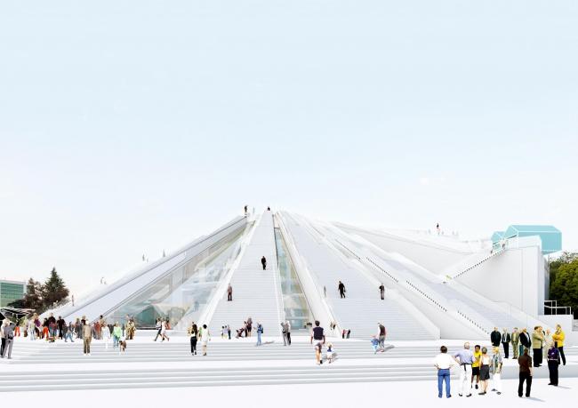 «Пирамида» в Тиране © MVRDV