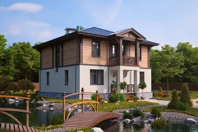 Проект типового загородного дома © GOOD WOOD