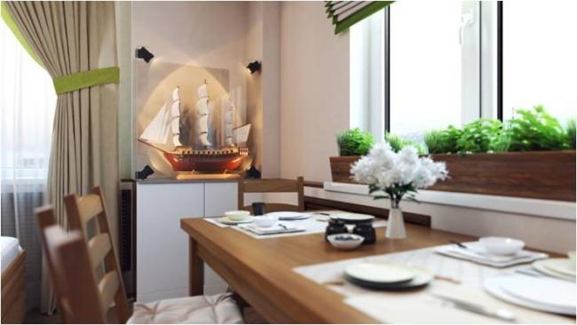 Дизайн-проект квартиры «Летучий корабль» (Москва).  Дизайнер Ярослава Галайко (компания Ecologica Interiors