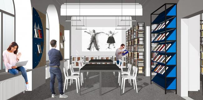 Библиотека №85. Медиазал. Авторы проекта: Инна Сафиуллина, Оксана Базанова
