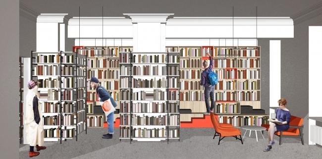 Библиотека №85. Читальный зал. Авторы проекта: Инна Сафиуллина, Оксана Базанова