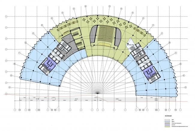МФК на Ленинградском шоссе, вл. 69. План 4 этажа © ТПО «Резерв»