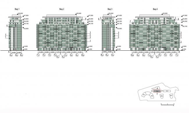 МФК на Ленинградском шоссе, вл. 69. Фасады блок С2 © ТПО «Резерв»