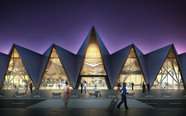 Реновация аэропорта в Новом Уренгое, проект ©   Twelve Architects