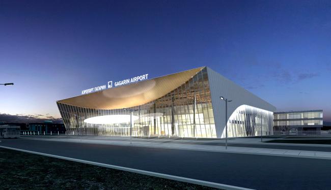 Аэропорт Гагарин в Саратове. Архитектурного бюро Асадова. Изображение предоставлено агентством «Правила Общения»