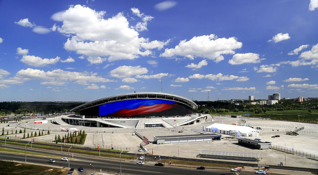 Казань-арена. Фото: Stanislavgubaydullin via Wikimedia Commons. Лицензия  CC BY-SA 3.0