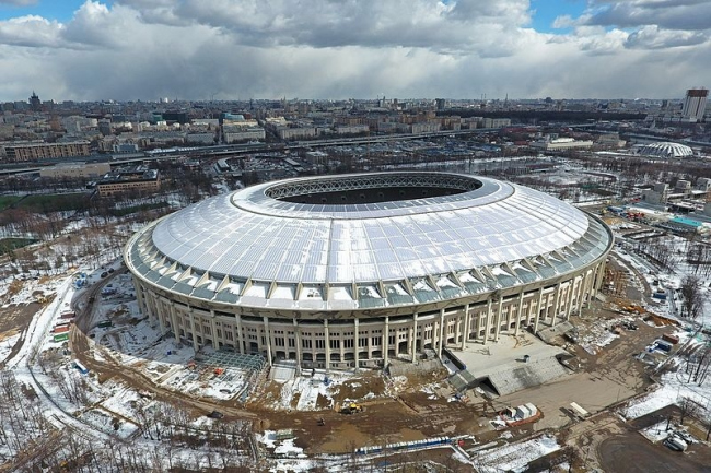 Стадион «Лужники». Фото: Комплекс градостроительной политики и строительства города Москвы via Wikimedia Commons. Лицензия Лицензия  CC BY-SA 4.0