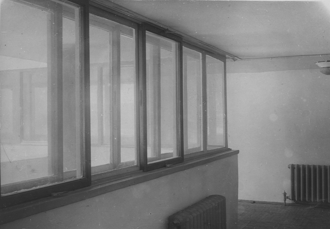 The Narkomfin Building. Window. A historical photo, interior. Photo courtesy by Ginsburg Architects