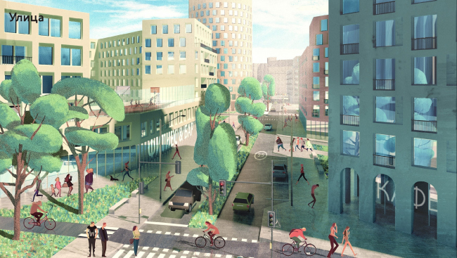 """The renovation platform """"Vernadskogo Avenue"""". Street © Ostozhenka"""