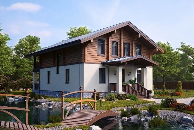 Комбинированный дом (К-2) 260 кв. м © GOOD WOOD