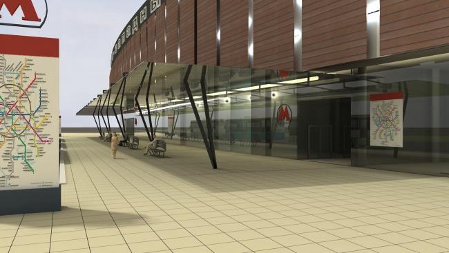 Многофункциональный торговый центр с размещением транспортно-пересадочного узла © ABD architects