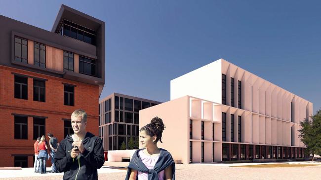 Фасады зданий Корпусов «В…А» с ул. Медуницинская после реновации © АртСити