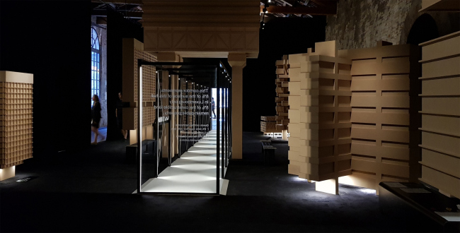 Коридор, 8%. Павильон Люксембурга на биеннале архитектуры в Венеции. Фотография: Ю.Тарабарина, Архи.ру