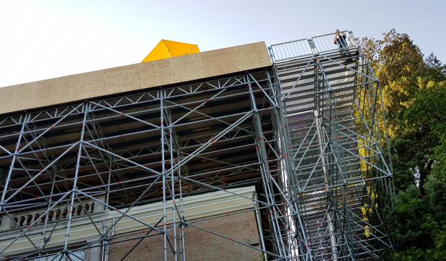 Конструкции лестница и площадки павильона Великобритании. Фотография: Ю.Тарабарина, Архи.ру