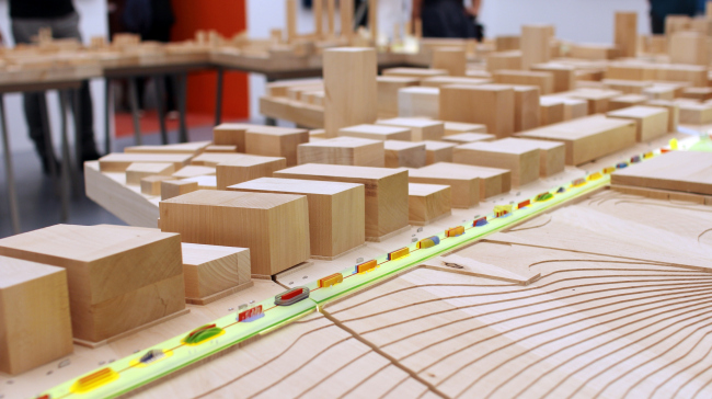 Bjarke Ingels, Humanhattan 2050, pavilion of the Biennale. Photo: J. Tarabarina, archi.ru