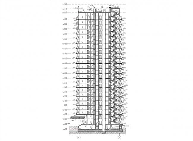 ЖК Сentral Park. 2 очередь. Разрез © Архиматика