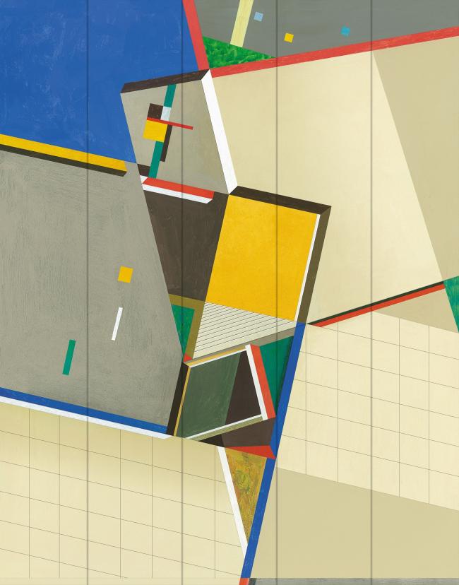 Восточный вестибюль «Супрематизм». Фрагмент © Четвертое измерение