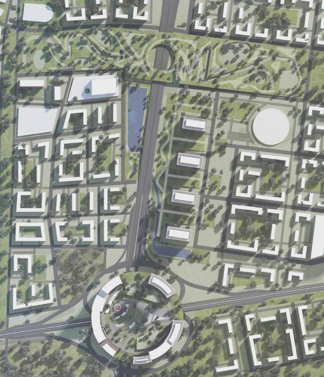 Принципы формирования высотной застройки на промышленных территориях вдоль Павелецкой железной дороги. Работа студента Артема Шахмаева