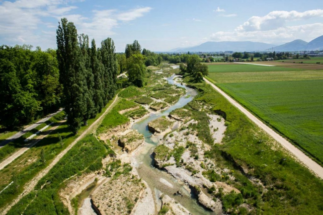 Натурализация реки Эр © Atelier Descombes Rampini