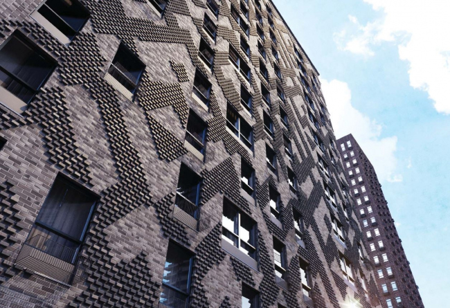 Фасады ЖК в Мякининской пойме © Megabudka