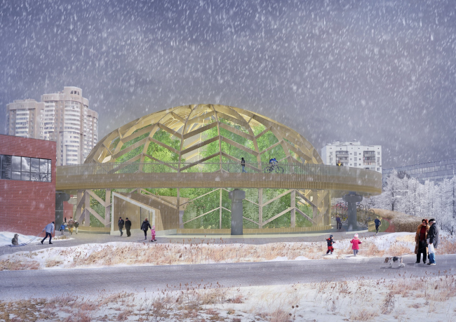 """The greenhouse. """"Monosad"""" project © WOWHAUS"""