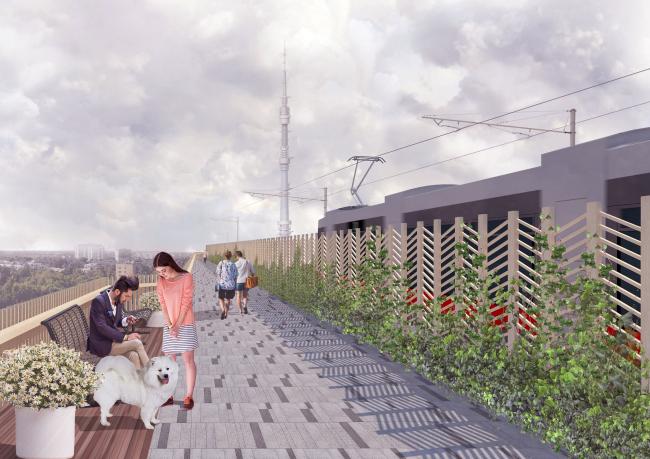 Транзитная зона. Проект «Моносад» © WOWHAUS