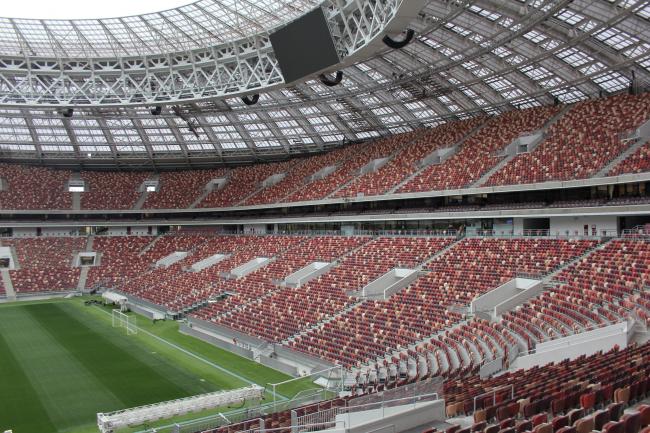 Luzhniki Stadium, reconstruction 2015-2018. SPEECH. Photograph © Ilia Ivanov