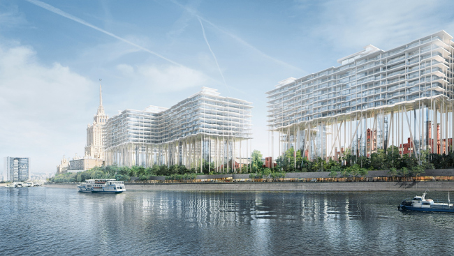 The project of developing the territory of the Badaevsky Brewery. Image © Herzog & de Meuron