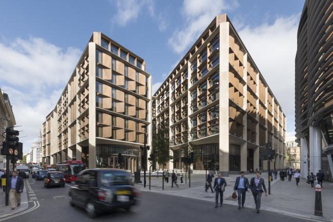 Европейская штаб-квартира компании Bloomberg, Лондон.  Foster + Partners. Фотография © Nigel Young