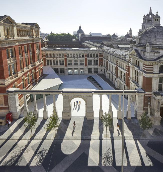 Реконструкция двора Музея Виктории и Альберта, Лондон. Фотография © Hufton + Crow
