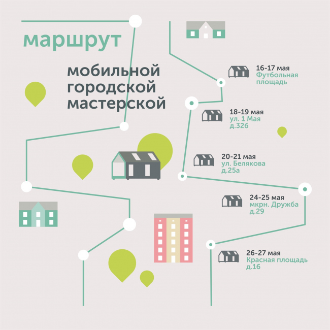 Маршрут «Мобильной мастерской». 2018 ©ЦПУ
