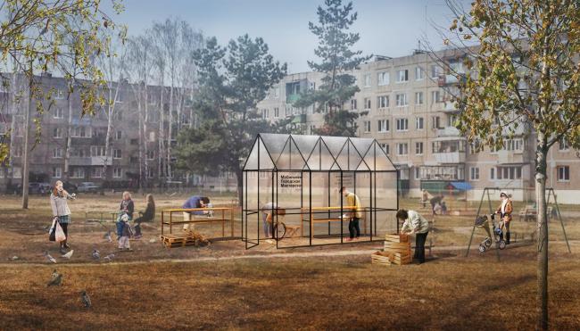 Визуализация павильона «Городская мастерская». Архитектор Михаил Приемышев. ©ЦПУ