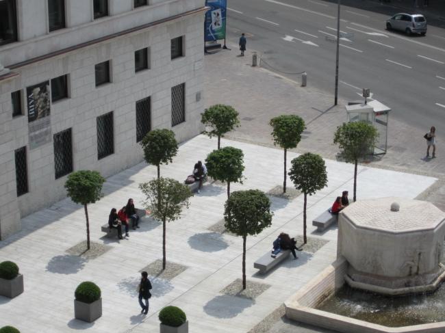 Площадь «Кредито Бергамаско» в Бергамо. Фото предоставлено Mario Bonicelli Architetto and Partners