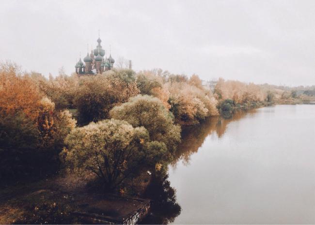 Панорама Ярославля, вид на церковь Иоанна Предтечи в Толчково. Предоставлено ЯГТУ, 2018