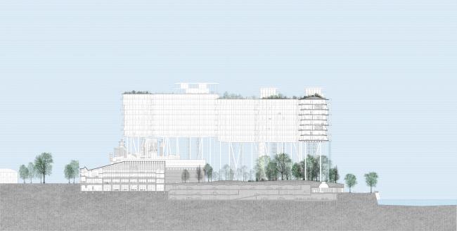 Проект застройки территории Бадаевского пивоваренного завода © Herzog & de Meuron