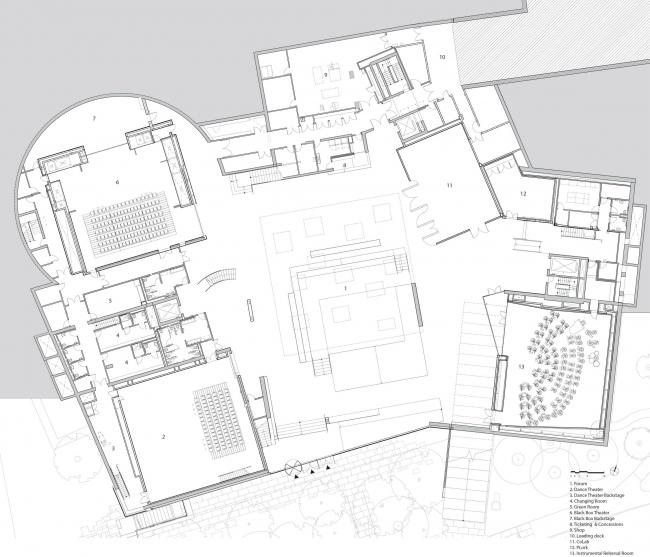 Комплекс искусств Льюиса Принстонского университета © Steven Holl Architects