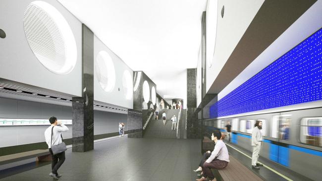 Станция метро «Рубцовская». Изображение предоставлено пресс-службой «Москомархитектура»
